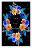 Black greeting card stock illustration