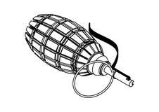 Grenade on white background royalty free illustration