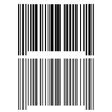 The black grey bar code icon. Stock Photo