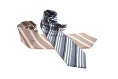Black or Grey Brown color necktie Royalty Free Stock Image