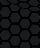 Black and grey hexagon pattern wallpaper background Stock Photography
