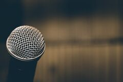 Black and Grey Microphone Royalty Free Stock Photo