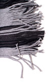 Black and-grey scarf Royalty Free Stock Photography