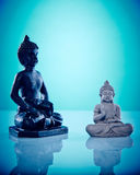 Black and grey stone buddahs Royalty Free Stock Photo