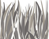Black, grey and tan thick grass background stock illustration