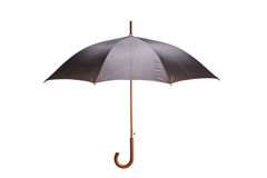 Black and grey umbrella Stock Image