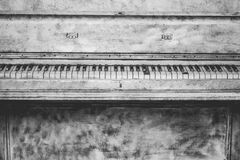 Black and Grey Upright Piano Sketch Royalty Free Stock Photography