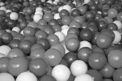 Black grey white balls for dry massage. Black-and-white photo.  stock photography