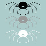 Black grey white spider icon. Black grey white spider icon it is set Stock Images