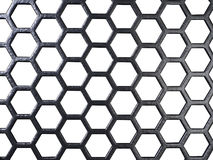 Black grid in white back Royalty Free Stock Photo