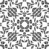 Black groovy pattern Stock Image