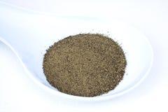 Black Ground Pepper. Food & Drinks - Condiments - Black ground pepper Stock Photo