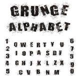 Black Grunge Alphabet Royalty Free Stock Image