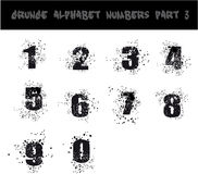 Black Grunge Alphabet Stock Photography
