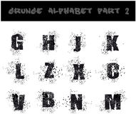 Black Grunge Alphabet Stock Photo