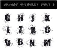 Black Grunge Alphabet Stock Photo