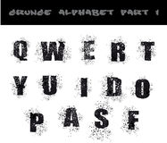 Black Grunge Alphabet Stock Image