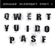 Black Grunge Alphabet Stock Image