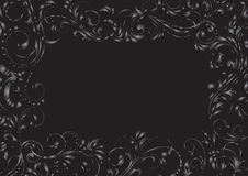 Black grunge background frame Stock Image