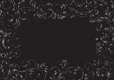 Black grunge background frame. Decorative template grunge background, illustration Stock Image