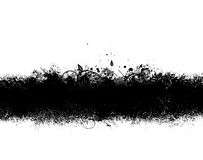 Black Grunge Banner. Grunge banner of black ink spatter and smudges Royalty Free Stock Photography
