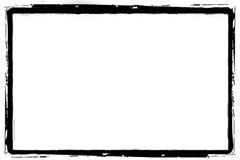 Black grunge border. Digitally created detailed grunge border Stock Photo