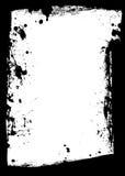 Black grunge border splat Stock Photo