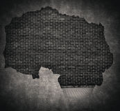 Black grunge brick and cracked concrete wall royalty free illustration