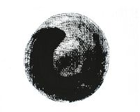 Black grunge circle. Element for different design Royalty Free Stock Photos
