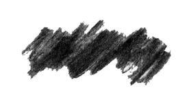 Black grunge coal crayon banner background. Black grunge coal ink crayon banner isolated on white background vector illustration