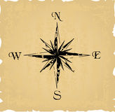 Black grunge compass Royalty Free Stock Photos