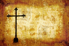 Black grunge cross Stock Image