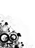 Black Grunge Design. Grunge design elements on a white background Stock Photography