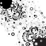Black grunge floral decor. Decorative template grunge background, illustration Royalty Free Stock Photos