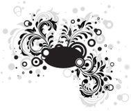 Black grunge floral template. Decorative template grunge background, illustration Stock Photo
