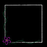 Black Grunge Flower Frame Royalty Free Stock Photos