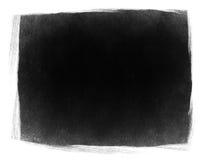 Black grunge frame isolated. Stock Photography