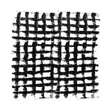 Black grunge mesh. Grid from acrylic brushstrokes Stock Photos