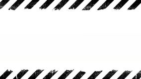 Black under construction sign on white background stock footage