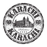 Karachi grunge rubber stamp Royalty Free Stock Photos