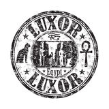 Luxor grunge rubber stamp Stock Images