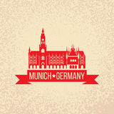 Black grunge rubber stamp with the name of Munich the capital city of Bavaria from Germany Stock Image