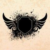 Black grunge shield vector illustration