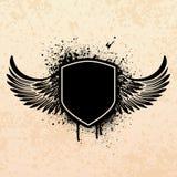 Black grunge shield stock illustration