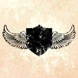 Black grunge shield royalty free illustration