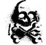 Skull with ink blots Stock Photography
