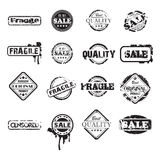 Black grunge stamps Stock Images