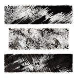 Black grunge stenciled rectangles Stock Images