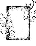 Black grunge swirls frame Royalty Free Stock Photos
