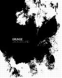 Black grunge textured background painted by brush Stock Photography